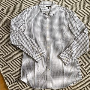 Banana Republic black/white checkered dress shirt